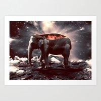 elefount / luminescent series Art Print