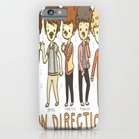 iPhone & iPod Case featuring Juan Direction One Direction Cartoon by xjen94