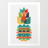 Colorful Whimsical Anana… Art Print