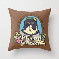 Millennial Falcon Throw Pillow