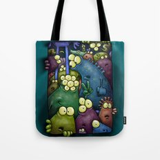 Crowded Aliens Tote Bag
