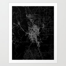 Colorado Springs Map Col… Art Print
