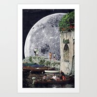 Everyone's Gone To The Moon Art Print