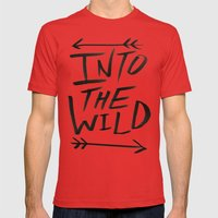 Into the Wild Mens Fitted Tee Red SMALL