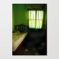 Abandoned Green Nunnery Room Canvas Print
