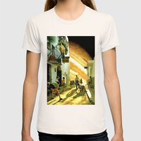 La Taverna... Womens Fitted Tee Natural SMALL