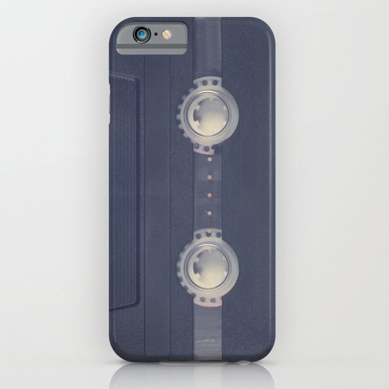 Retro black music cassette and heart shaped tape on beige background iPhone & iPod Case