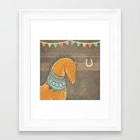 Horse Head - Chocolate Framed Art Print