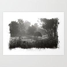 Foggy Path Art Print