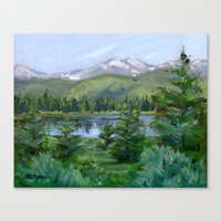 Echo Mountain Lake Canvas Print