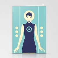 Isolde Blue Stationery Cards