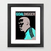 John Barnes - Goal Digger Framed Art Print