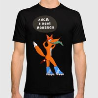 Sausage in the ass Mens Fitted Tee Black SMALL