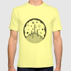 Outer space Mens Fitted Tee Lemon SMALL