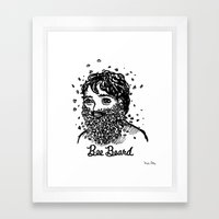 Bee Beard Framed Art Print