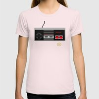 Nintendo Entertainment System Womens Fitted Tee Light Pink SMALL
