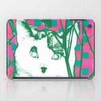 flower and cat iPad Case