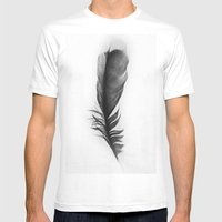 Feather Photograph: Ephemeral Mens Fitted Tee White SMALL