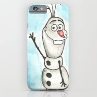 iPhone & iPod Case featuring Watercolor Olaf by christinarashel