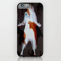 iPhone & iPod Case featuring Orange dancer by AntWoman