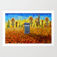 Art Print featuring Tardis At Fall Grass Fie… by Three Second