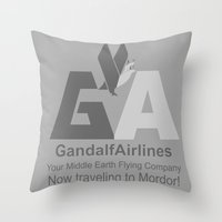 Gandalf Airlines Throw Pillow