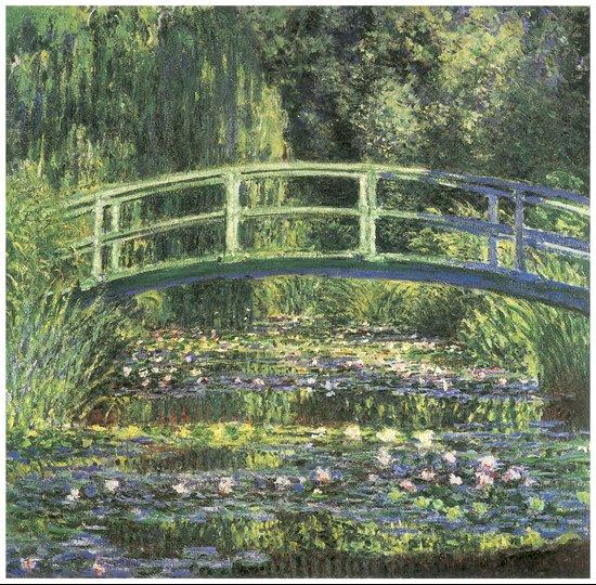 Vintage Monet Bridge  Canvas Print