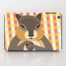 Gingham Squirrel iPad Case