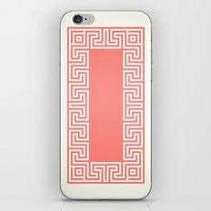 Greek Key coral iPhone & iPod Skin