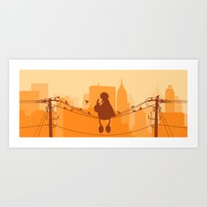 Too Big For The City Art Print