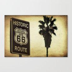 Route 66 California Palm Tree Canvas Print