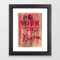 Shot Through The Heart..… Framed Art Print