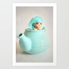 Living in a Teapot Art Print