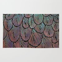 Feather Detail Rug