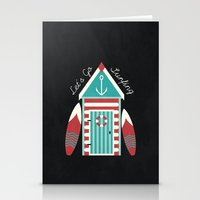 Let's Go Surfing. Stationery Cards