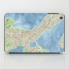 City Map Madison Wisconsin watercolor  iPad Case