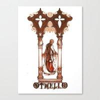 Othello, Moor of  Venice - Shakespeare Illustration Canvas Print