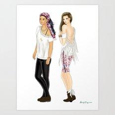 Fashion Journal: Day 28 Art Print