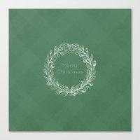 Simple Christmas Wreath Canvas Print