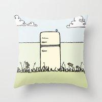 Retro Spring Throw Pillow