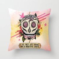 Live Fast Throw Pillow