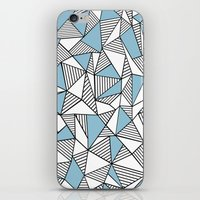 Abstraction Lines Sky Blue iPhone & iPod Skin