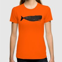Whale Womens Fitted Tee Orange SMALL