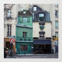 The Streets Of Paris, Fr… Canvas Print