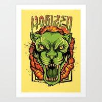 Explosive Panther Art Print