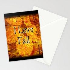 Autumn Memories In Orange I Love Fall.jpg Stationery Cards