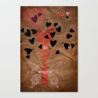 Little Tree Of Love Canvas Print