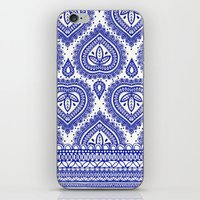 Decorative Blue iPhone & iPod Skin