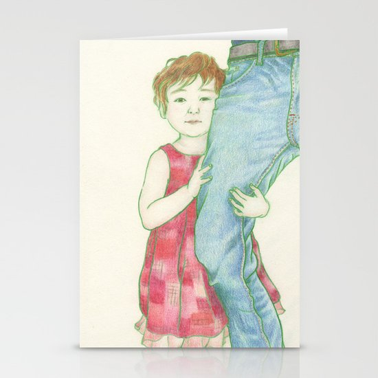 Shy Stationery Card