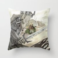 Eowyn and the Witch King Throw Pillow